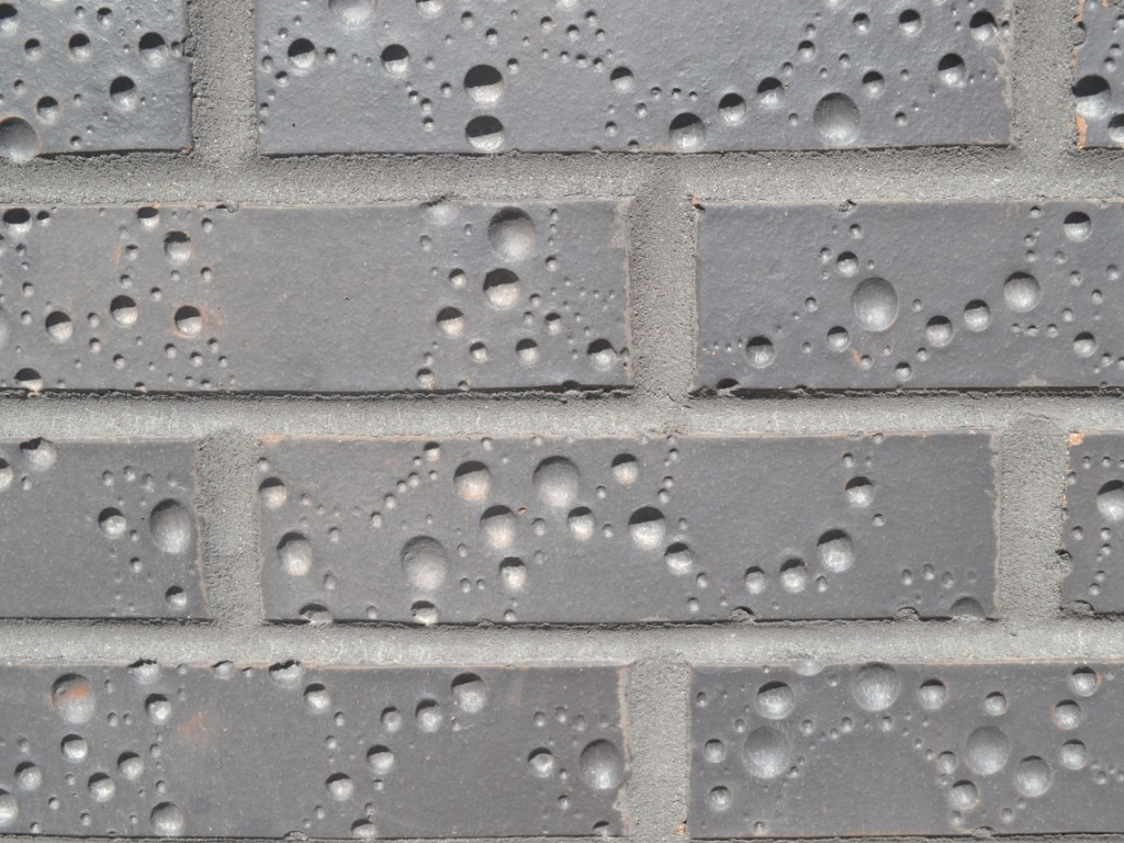 ściana, cegły, mur